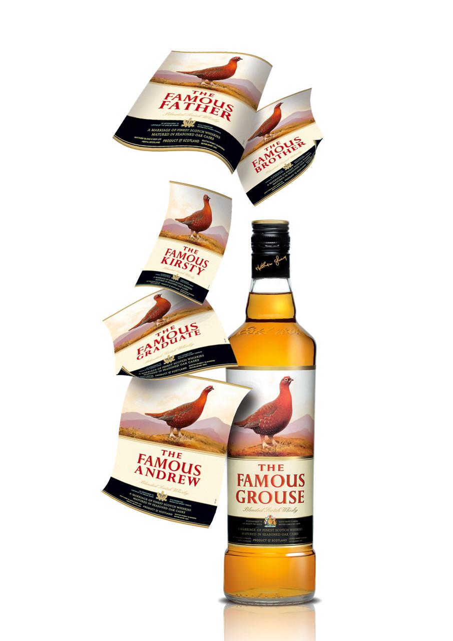 Een gepersonaliseerde fles The Famous Grouse voor vaderdag!