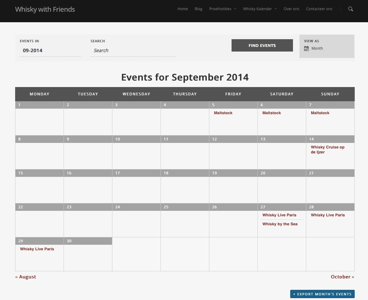 Whisky Kalender staat live!