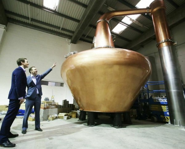 Eerste koperen pot still in 125 jaar aangekomen in Dublin