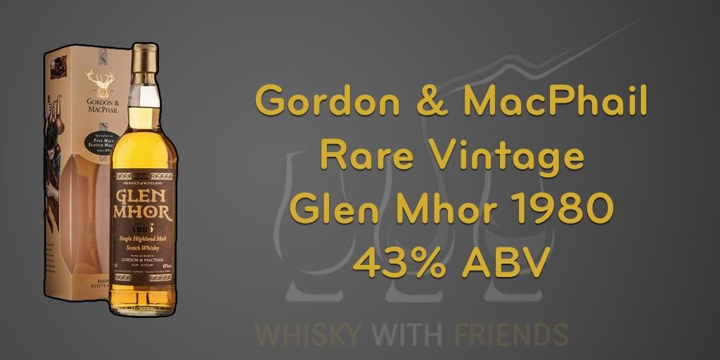Glen Mhor 1980 – Gordon & MacPhail – Proefnotities