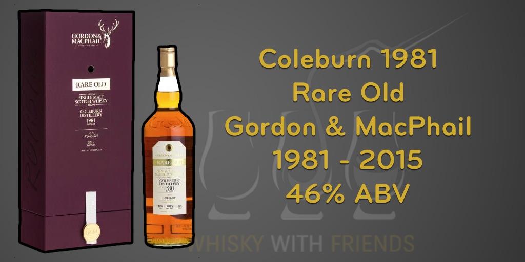 Gordon & MacPhail Coleburn 1981 – Proefnotities