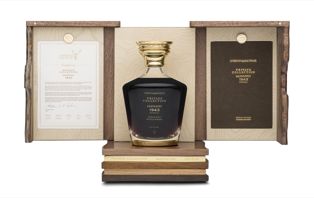 Glenlivet 1943 by Gordon & MacPhail, zeldzame whisky uit WO2!