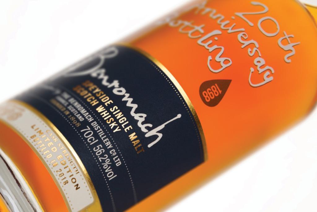Benromach lanceert de Benromach 20th Anniversary Bottling