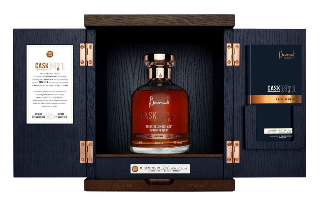 Zeldzame Benromach Cask No 1 markeert het 20-jarig jubileum van Benromach Distillery